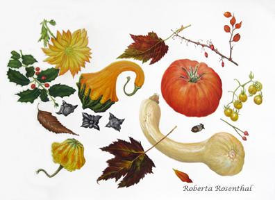 """""""Black Dirt Harvest"""", watercolor pencil and watercolor, 24"""" x 30""""   © Roberta Rosenthal"""