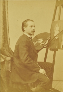 Henry Ulke in his studio. Image courtesy Crispian Riley-Smith Fine Arts Ltd. All rights reserved.