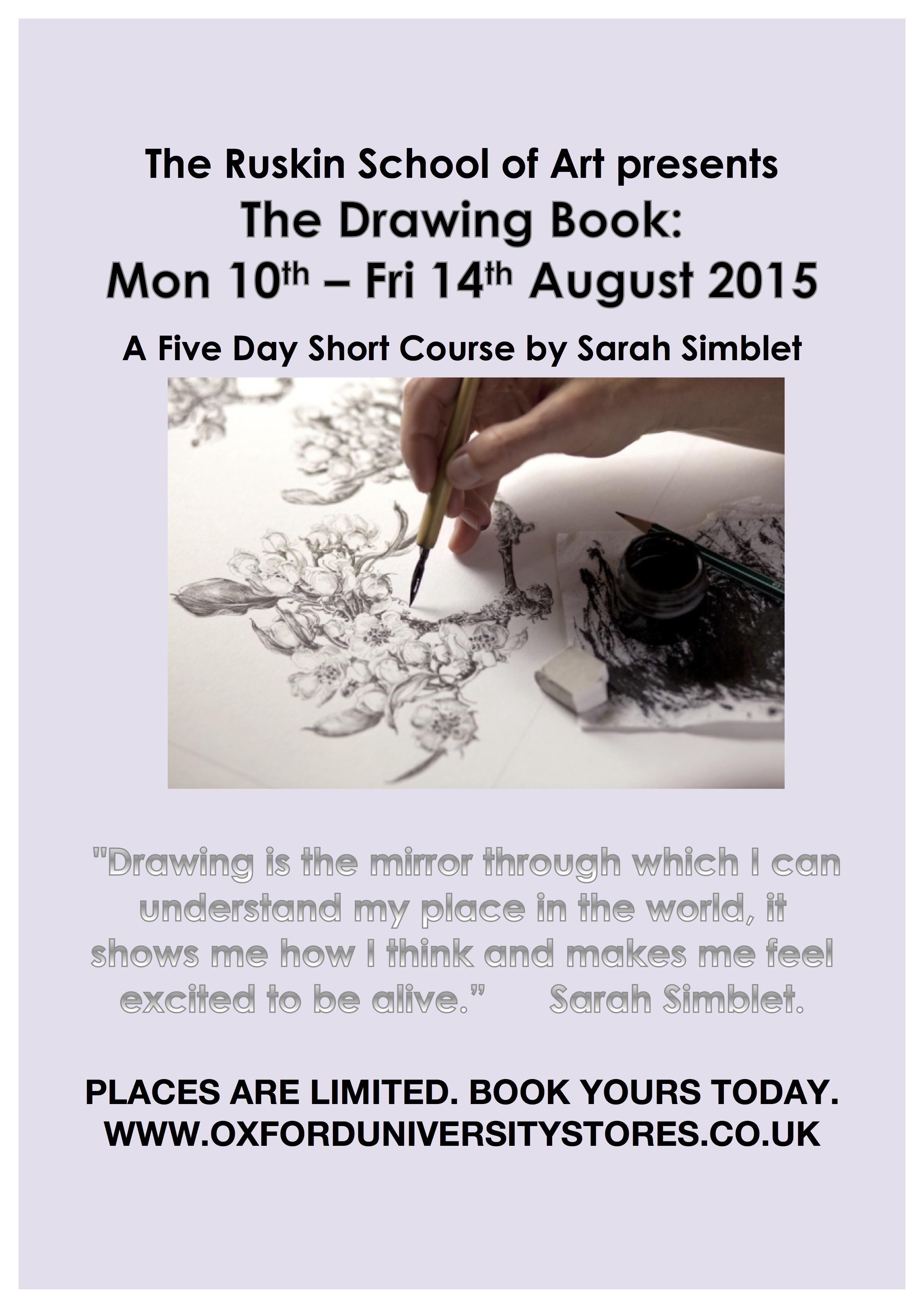 Drawing Courses with Sarah Simblet at Ruskin School of Art | ArtPlantae