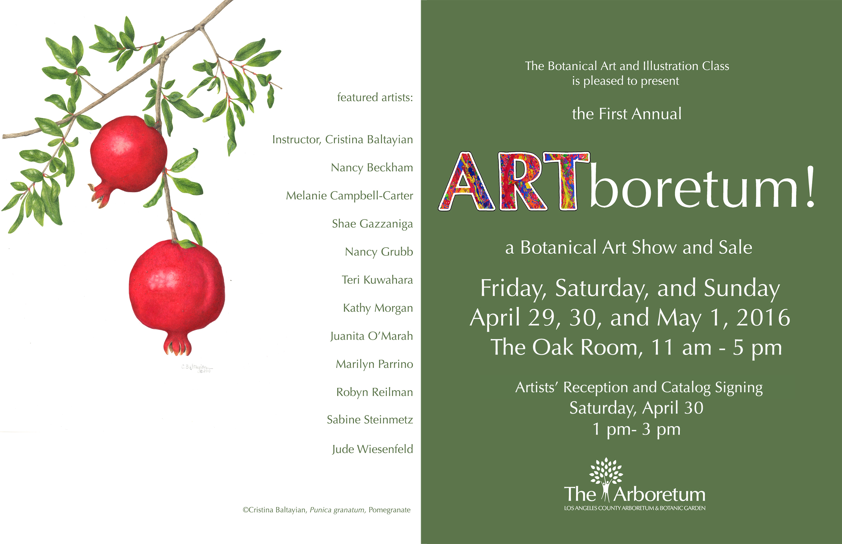 Botanical Art Show And Sale At Los Angeles County Arboretum And - Los angeles arboretum map